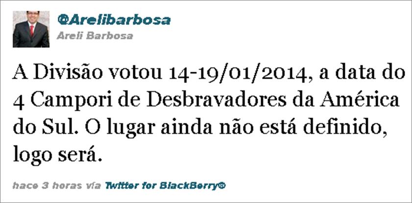 IV Camporí Sudamericano de Conquistadores 2014 en Barretos - SP - Brasil
